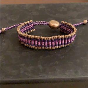 Purple LINKS London bracelet